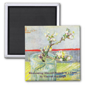 Van- Goghkunst, blühende Mandel-Niederlassung in Quadratischer Magnet