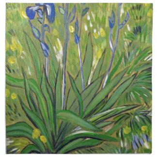 Van- Goghkunst Iris, Acrylwiedergabe Stoffserviette