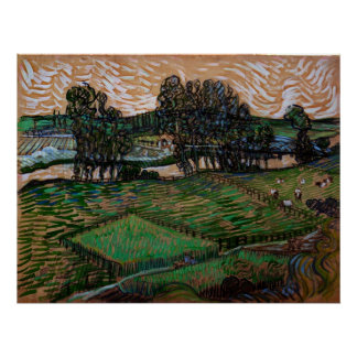 Van- Goghlandschaft mit Brücke über dem Oise Poster