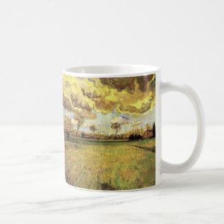 Van- Goghlandschaft unter stürmischem Himmel, Kaffeetasse