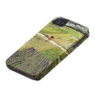 Van- Goghlandschaftswagen und Zug, schöne Kunst iPhone 4 Hüllen