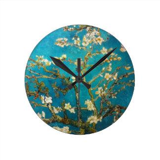 Van- GoghMandelbaum Runde Wanduhr