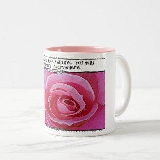 Van- Goghnatur-Zitat-Rosen-Tasse Zweifarbige Tasse