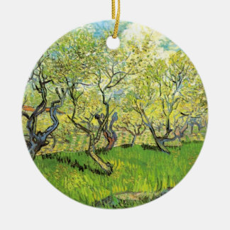 Van- Goghobstgarten in der Blüte, Vintage feine Keramik Ornament