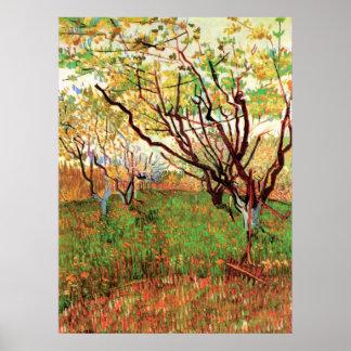 Van- Goghobstgarten in der Blüte, Vintage feine Poster