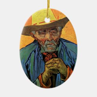 Van- Goghporträt Geduld Escalier Vintager Kunst Keramik Ornament