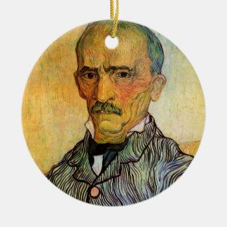 Van- Goghporträt von Trabuc, Vintager Keramik Ornament
