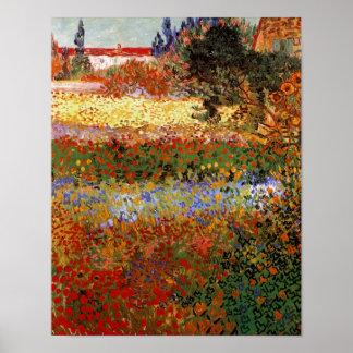 Van- Goghschöne Kunst des blühenden Garten-(F430) Poster