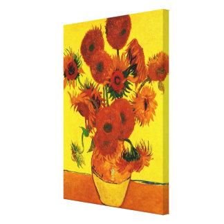 Van- Goghschöne Kunst, Vase mit 15 Sonnenblumen Leinwanddruck