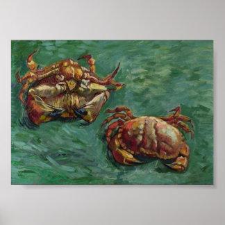 Van- Goghschöne Kunst zwei Krabben-(F606) Poster