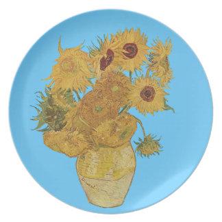 Van- Goghsonnenblume-Geschenk-Platte Teller