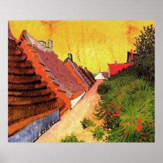 Van- Goghstraße in Saintes Marie, Vintage feine Poster