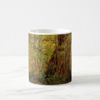 Van- Goghunterholz, Vintage Landschaftsfeine Kunst Kaffeetasse