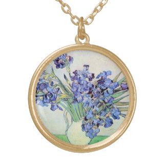 Van- Goghvase mit Iris, Vintage feine mit Vergoldete Kette