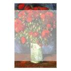 Van- Goghvase mit roten Mohnblumen, Vintage feine Briefpapier