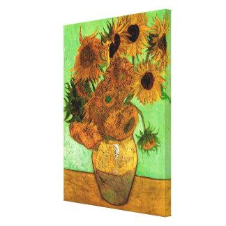 Van- GoghVase mit Sonnenblumen, Blumenschöne Kunst Leinwanddruck