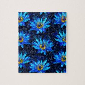 Van- Goghwasserlilienblau Puzzle