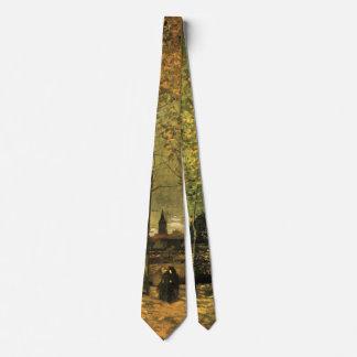 Van- Goghweg mit Pappeln, Vintage feine Kunst Bedruckte Krawatten