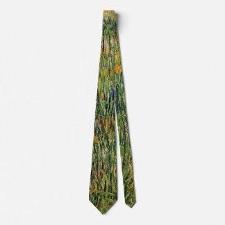 Van- Goghweide in der Blüte, Vintage Natur-feine Bedruckte Krawatte