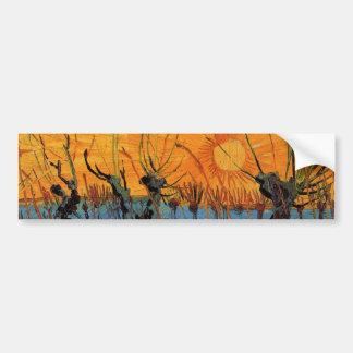 Van- Goghweiden am Sonnenuntergang, Vintager Autoaufkleber