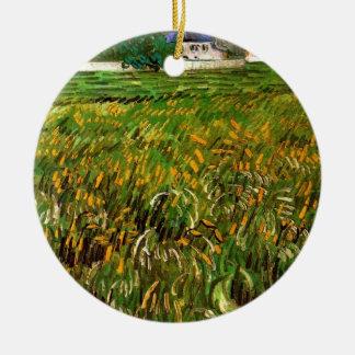 Van- Goghweizen-Feld bei Auvers mit dem Weißen Keramik Ornament