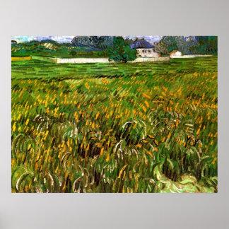 Van- Goghweizen-Feld bei Auvers mit dem Weißen Poster