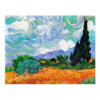 Van- Goghweizen-Feld mit Zypressen (F615) Postkarten