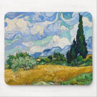 Van- Goghweizen-Feld mit Zypressen Mousepad