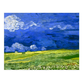 Van- Goghweizen-Feld unter bewölktem Himmel (F778) Postkarte