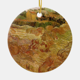 Van- Goghweizen-Felder mit Auvers Vintager feiner Keramik Ornament