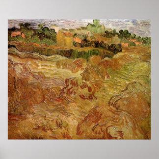 Van- Goghweizen-Felder mit Auvers Vintager feiner Poster