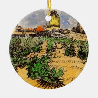 Van- Goghwindmühle von Alphonse Daudet, Keramik Ornament