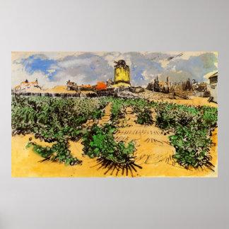 Van- Goghwindmühle von Alphonse Daudet, Poster