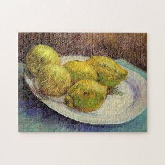 Van- Goghzitronen auf einer Platte, Vintage noch Puzzle