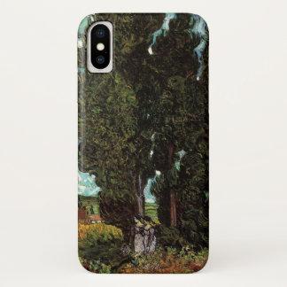 Van- Goghzypressen mit zwei weiblichen Zahlen iPhone X Hülle