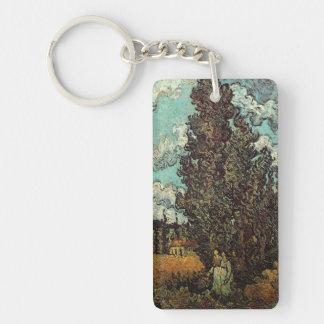 Van- Goghzypressen und zwei Frauen, Vintage feine Schlüsselanhänger