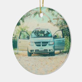 Van Parked auf Boca Chica Strand, Key West, FL Keramik Ornament