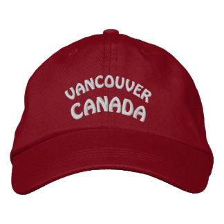 Vancouver-Andenken-Baseballmütze-gestickte Kappe Baseballkappe