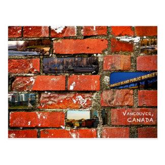 Vancouver-Backsteinmauer Postkarte