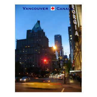 Vancouver bis zum Nacht Kanada Postkarte
