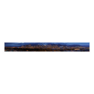 Vancouver-Britisch-Columbiadämmerung Panorama Plakatdrucke