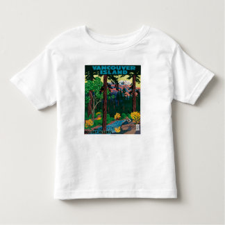 Vancouver-Insel-Werbungs-Plakat Kleinkind T-shirt