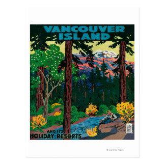 Vancouver-Insel-Werbungs-Plakat Postkarte