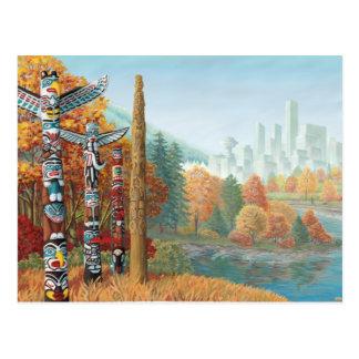 Vancouver-Kunst-Postkarten-Vancouver-Totempfahl Postkarte