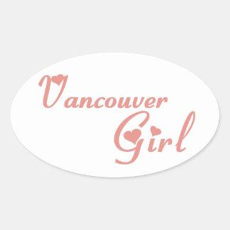 Vancouver-Mädchen Ovaler Aufkleber