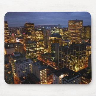 Vancouver-Nachtzeit mousemat Mousepads