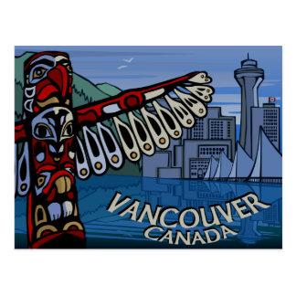 Vancouver-Postkarten-Totem Pole u. Postkarte