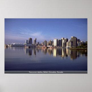Vancouver-Skyline, Britisch-Columbia, Kanada Poster