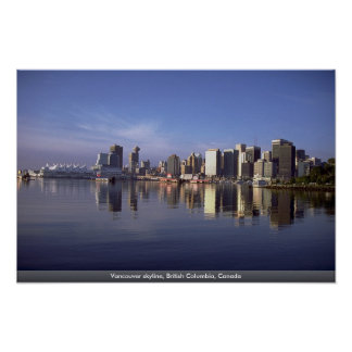 Vancouver-Skyline Britisch-Columbia Kanada Plakatdrucke