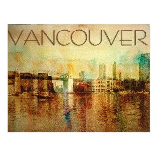 Vancouver-Wasser-Farbe Postkarte